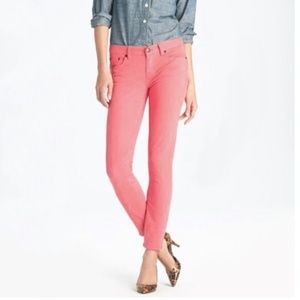 """J.CREW Coral Toothpick Ankle Jeans 29"""""""